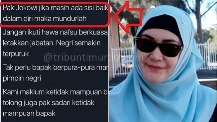 JEJAK Medsos Lily Sofia Kerap Serang Jokowi, Dukung Prabowo Subianto, 'Orang Waras Pilih Waras'