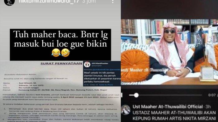 Maaher Soni Ernata Takut Dilaporin Nikita Mirzani Lihat Postingan Ustaz Khalid Basalamah Dukung Tribun Timur