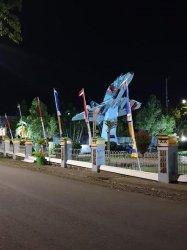 Taman di Wajo Dipasangi Lampu Hias Jelang HUT RI, Ini Maknanya