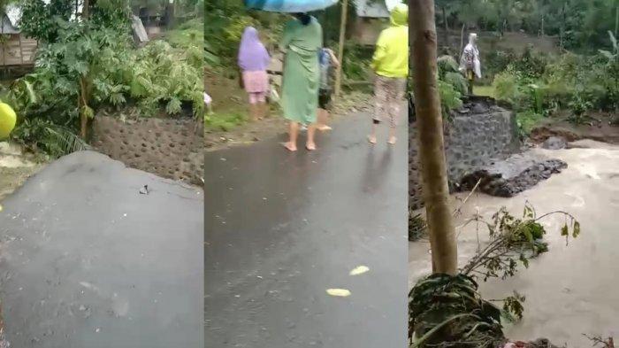 Hujan Deras, Jembatan Penghubung Antar Desa di Tamaona Bulukumba Ambruk