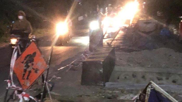 Perbaikan Jembatan di Manjangloe Jeneponto Akibatkan Kecelakaan
