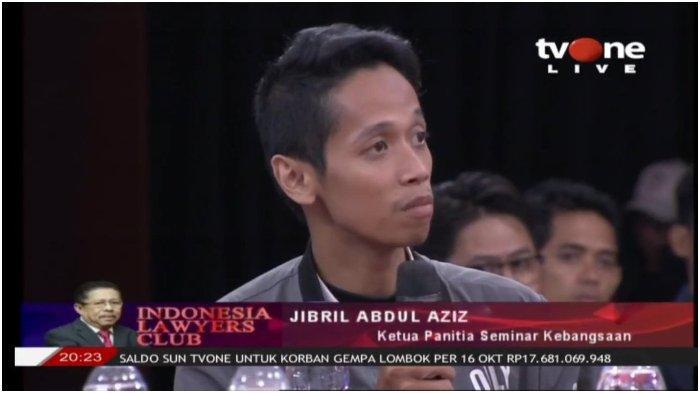 Blak-blakan di ILC TV One 2018, Jibril Abdul Aziz Mahasiswa UGM Ditangkap Karena Video 'Panas' 2019