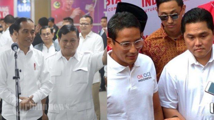 5 Hal Tak Terduga di Pertemuan Jokowi dan Prabowo, Ini Reaksi Sandiaga Uno Usai Bertemu Erick Thohir