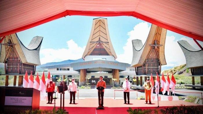 Resmikan Bandara Toraja, Jokowi : Saya Yakin Pariwisata Berkembang Baik