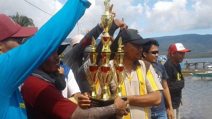 Tim Mentilu dan Molino Juara Lomba Perahu di Danau Matano
