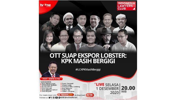Judul atau Topik ILC TV One Malam Ini, Nonton Live Streaming, Narasumber Bahas OTT Edhy Prabowo