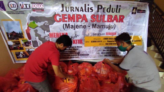 JPS Sulsel Salurkan Bantuan Dampak Gempa Sulbar