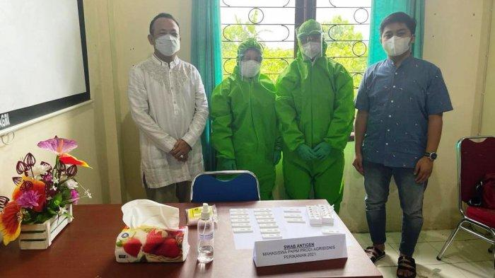 Sebelum Berangkat PKPM, 58 Mahasiswa Agribisnis Perikanan Politani Pangkep Ikut Rapid Test Antigen