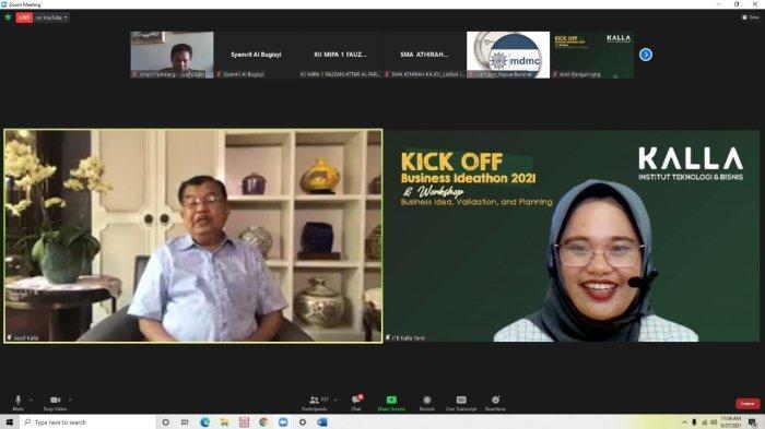 Hadiri Kick Off Business Ideathon 2021 ITB Kalla, JK Semangati Siswa Berani Berbisnis