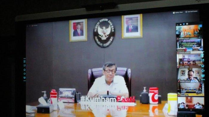 Kakanwil Kemenkum HAM Sulbar Ikuti Arahan Menkumham via Teleconference