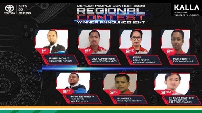 Tim After Sales Kalla Toyota Berjaya di Dealer People Contest TAM, Raih Prestasi di 4 Kategori
