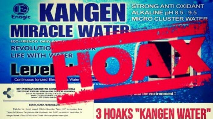 Beredar Surat Kemenkes Soal Hoax Khasiat Kangen Water Wah Jadi Selama Ini Tipu Tipu Dong Tribun Timur