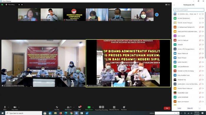 Kemenkumham Sulsel Workshop Penjatuhan Hukuman Disiplin Bagi PNS