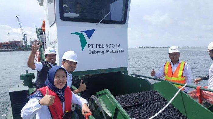 Pelindo IV Resmikan Kapal Pembersih Sampah di Pelabuhan