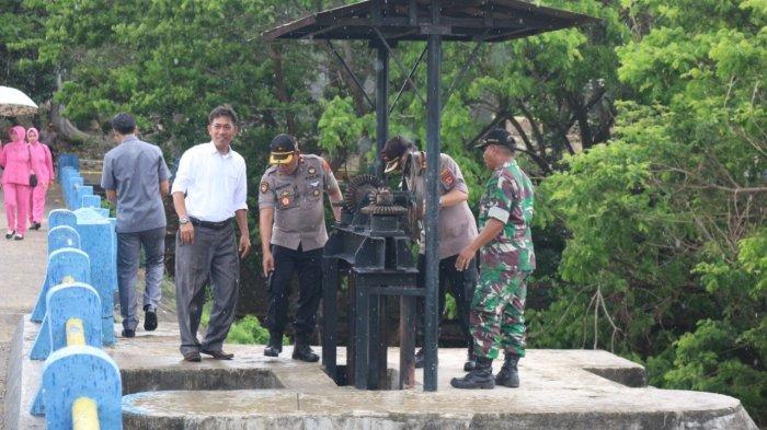 Antisipasi Banjir, Kapolres Bantaeng Cek Bendungan Dam Balang Sikuyu