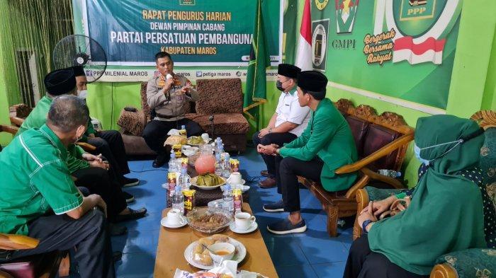 Kapolres Maros Sowan ke Pengurus Parpol, Minta Terlibat dalam Keamanan & Ketertiban Masyarakat