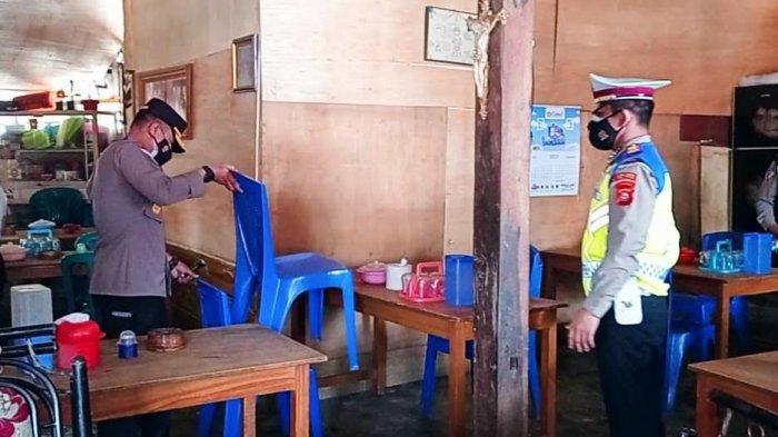 Pendisiplinan Aturan PPKM Level 4 Tana Toraja, Petugas Sasar Pasar dan Warung Makan