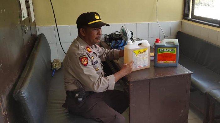 IRT Curi 2 Jerigen Racun Rumput di Pasar Kampiri Wajo, Ngaku Sudah 2 Tahun Beraksi