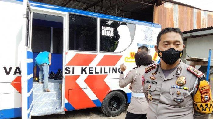 Mobil Vaksin Keliling Satlantas Polrestabes Makassar Juga Layani Warga Luar Kota