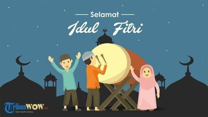 Kumpulan Kata-kata Mutiara Ucapan Selamat Lebaran Idul Fitri 2020, Ada Animasi GIF Kirim Whatsapp