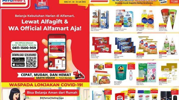 Promo Alfamart Rabu 21 Juli 2021, Serba Gratis Beli Susu, Eskrim Snack, Beli Shampo Gratis Gula