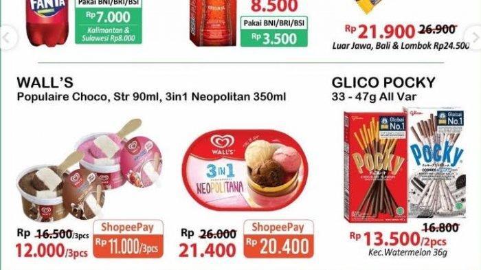 UPDATE Katalog Alfamart Selasa 20 Juli 2021, Teh Botol 1 Liter Rp 8.500, Es Krim Beli 2 Gratis 1