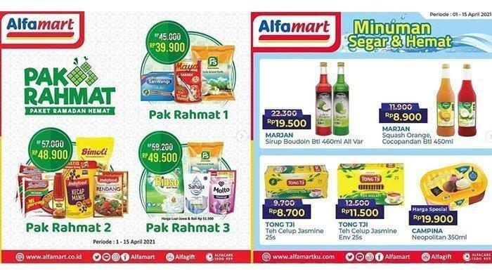 Promo Alfamart Rabu 14 April 2021, Paket Ramadan Sirup, Sari Roti, Sarden, Kornet, Biskuit Murah
