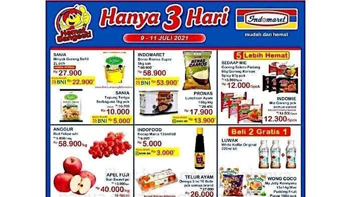 KATALOG Promo Indomaret Sabtu 10 Juli 2021: ShopeePay Serba Hemat Diskon 70%, Snack Minuman Hemat