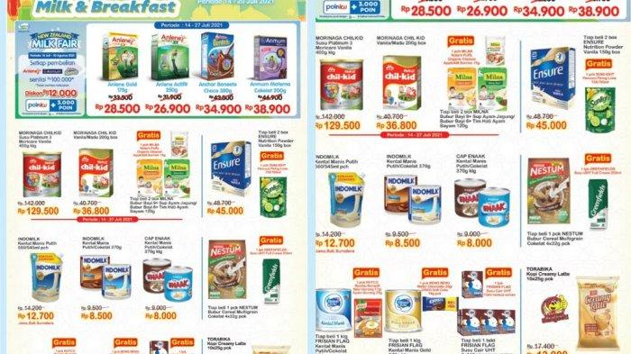 Promo Indomaret Terbaru Kamis 15 Juli 2021, Beli Susu Gratis Sunlight,Diskon Rp2.000 Pakai ShopeePay