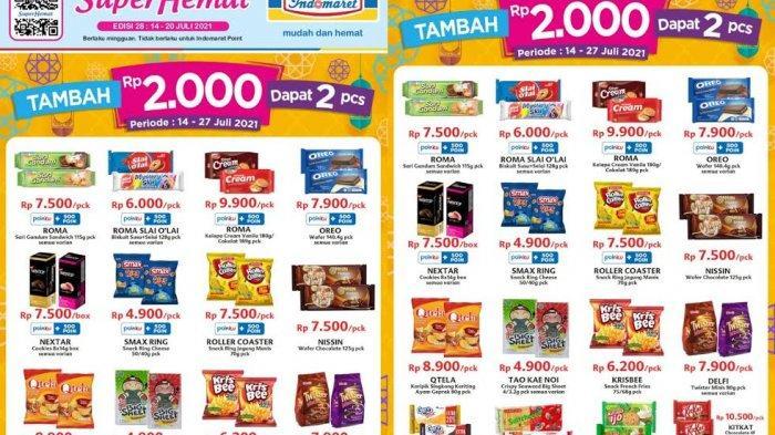 Promo Indomaret Terbaru Rabu 14 Juli 2021, Biskuit dan Snack Tambah Rp 2.000 Dapat 2, KitKat, Nextar
