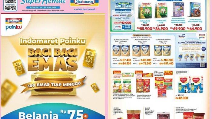 Katalog Indomaret Terbaru Rabu 21 Juli 2021, Susu Anlene,Anmum, Boneeto Murah,Bubur Bayi Turun Harga