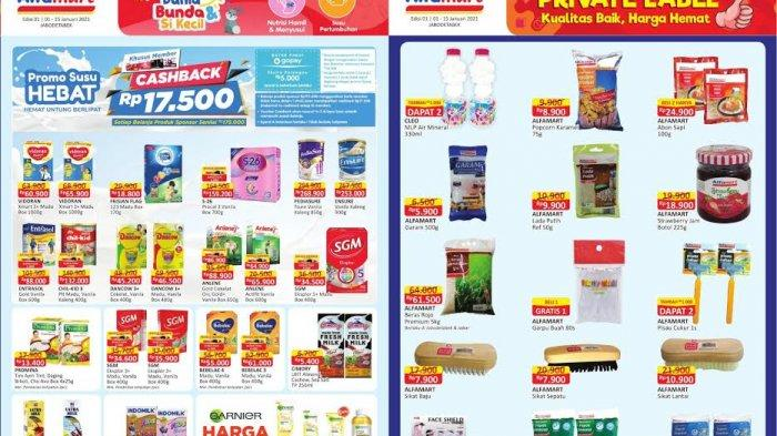 KATALOG Promo Alfamart Jumat 8 Januari 2021: Susu Bayi Beli 1 Gratis 1 dan Promo Serba Rp 5 Ribu