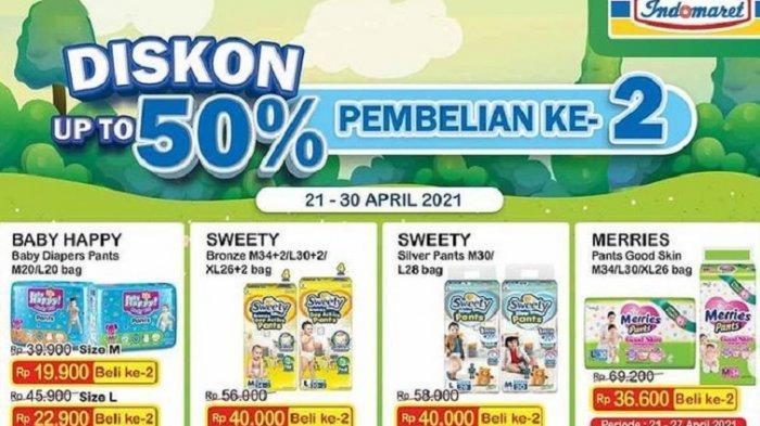 KATALOG Promo Indomaret Jumat 23 April 2021: Minyak Goreng, Telur dan Popok Diskon 50, Tebus Murah