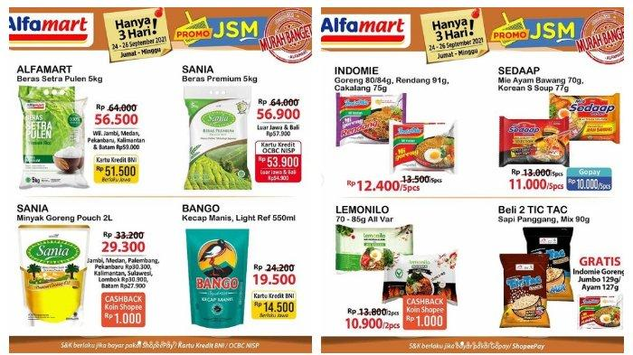 Katalog Promo JSM Alfamart 24 September 2021, Deterjen Rinso, Beras & Minyak Goreng Sania Murah