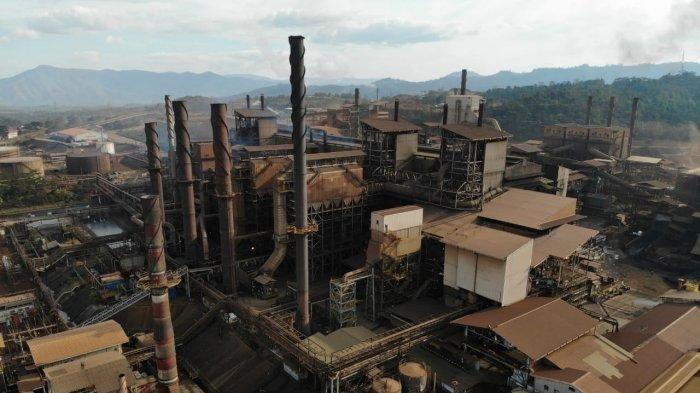 Kawasan pertambangan nikel PT Vale Indonesia di Sorowako, Luwu Timur.