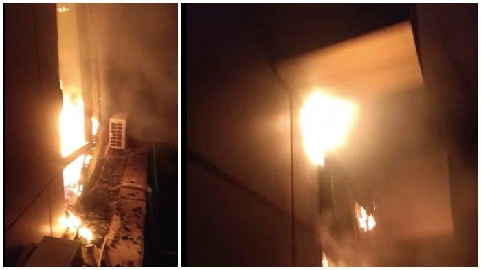 Kebakaran di Kantor Bank BTN Makassar