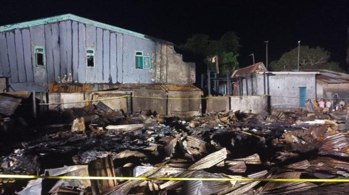 9 Rumah Semi Permanen di Galesong Baru Takalar Hangus Terbakar