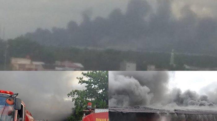 Padamkan Api di Gudang Pembalut, Damkar Makassar Kerahkan 15 Mobil Pemadam