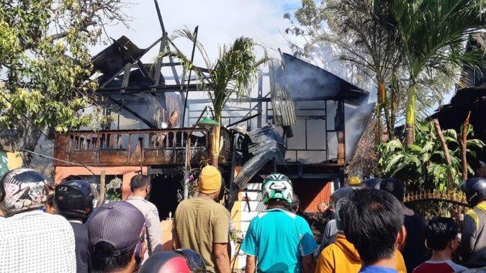 Lupa Matikan Kompor, Satu Rumah di Jalan Karya Jeneponto Terbakar