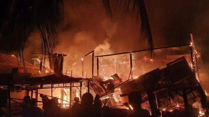 7 Rumah di Mamuju Ludes Terbakar, Diduga Gara-Gara Buang Puntung Rokok Sembarang