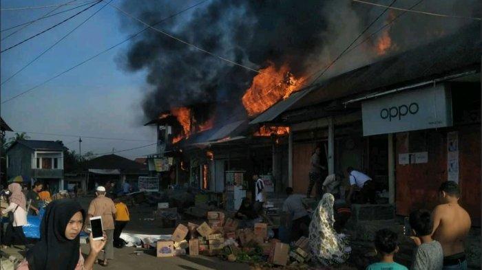 Dua Kebakaran dalam Sepekan di Bone, Terbaru Pasar Lacibbung