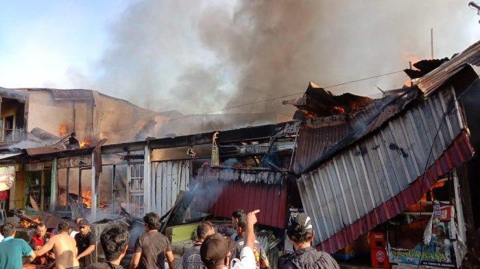 Bukan 8, Total 10 Bangunan Terbakar di Pasar Lacibbung Bone
