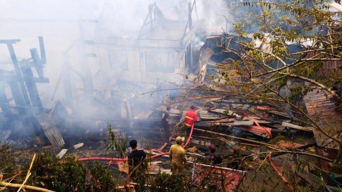 Kronologi Tongkonan Terbakar Saat Pesta Rambu Solo di Sopai Toraja Utara