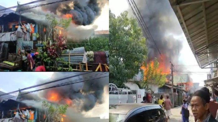 BREAKING NEWS: Kebakaran Melanda Pemukiman Warga di Jl Andi Tonro 5 Makassar