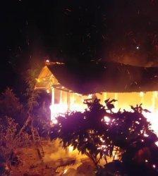 Kebakaran di Salobulo Palopo, Satu Rumah Ludes Dilalap Api