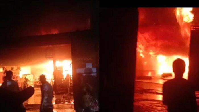 Kebakaran di Mangga Tiga Makassar, 1 Rumah dan Mobil Hangus Terbakar