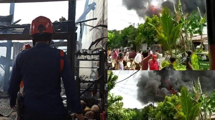 Tiga Rumah Hangus Terbakar di BTN Antara Makassar