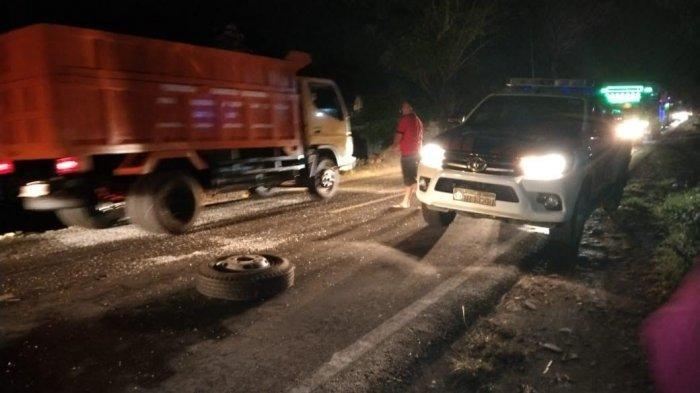 Kronologi Dua Truk Tabrakan di Manjangloe Jeneponto