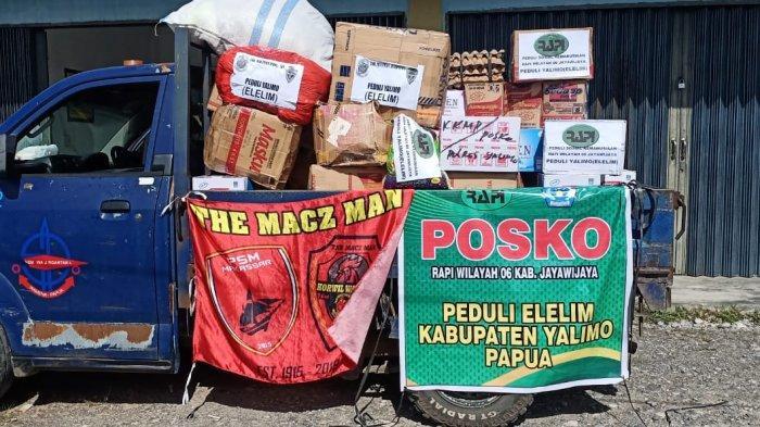 Keempat relawan ini akan membantu menyalurkan bantuan dari The Macz Man Korwil Wamena.