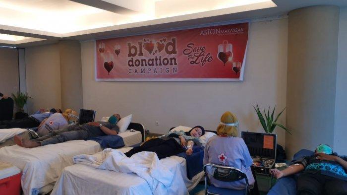Gelar Donor Darah, Hotel Aston Makassar Kumpulkan 35 Kantong Darah